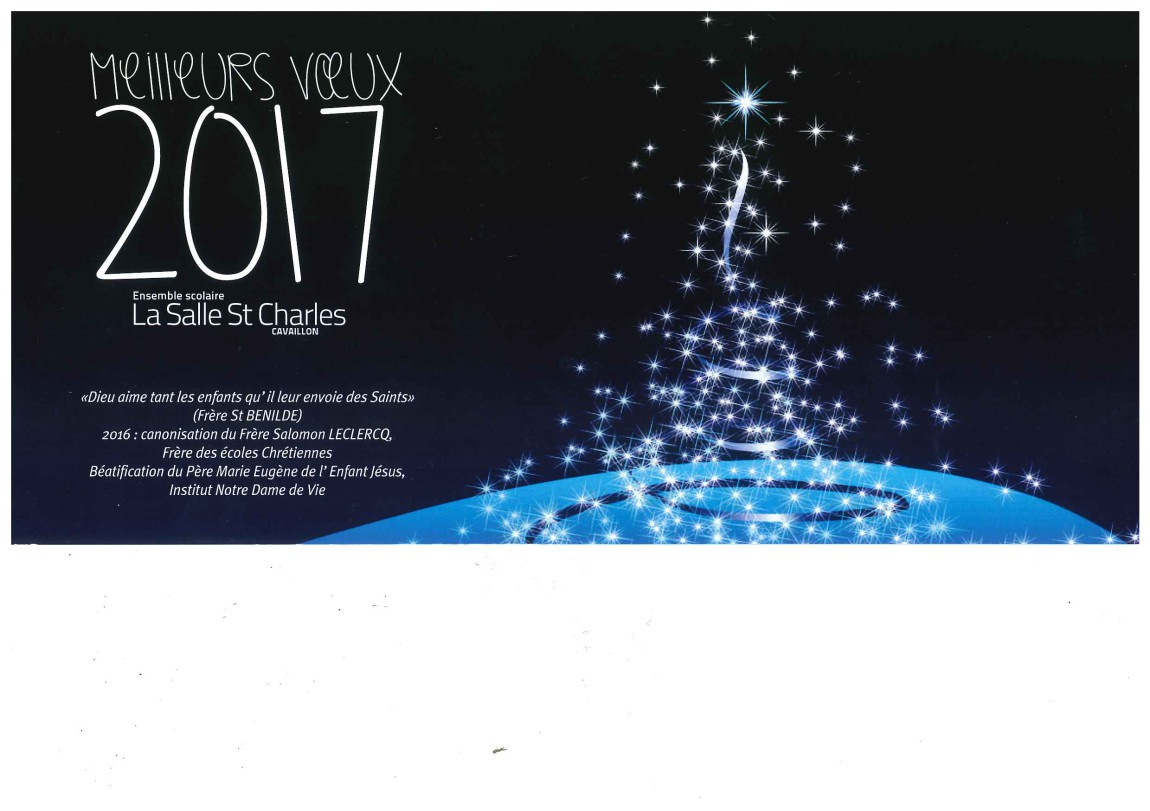 Bonnes fêtes de fin d'année et meilleurs vœux pour 2017 ...