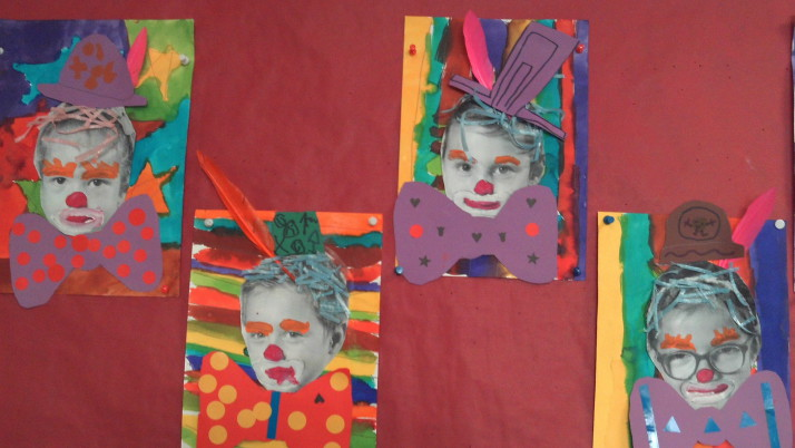 De bien drôles de clowns en classe de Grande Section!
