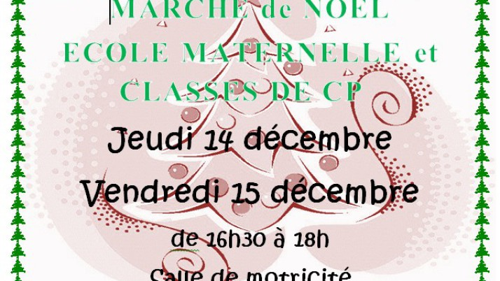 Marché de Noël Maternelles et CP