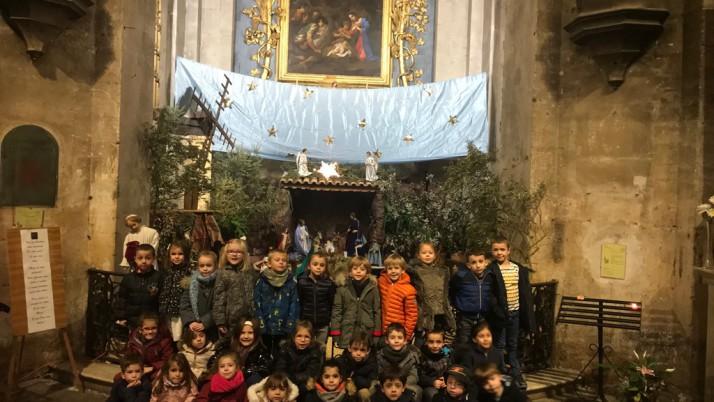 Visite de la crèche à la Cathédrale