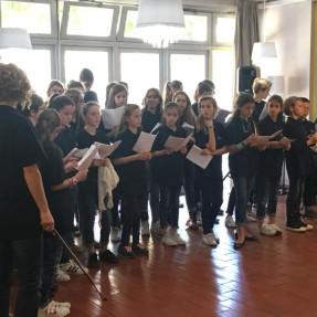 La chorale de l'établissement au foyer St Martin