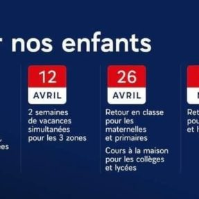 Calendrier selon dispositions du 31/03/2021